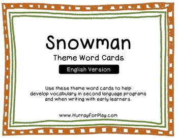 Freebie: Snowman Theme Word Cards (English)