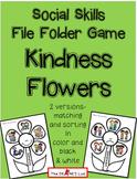 Freebie: Social Skills File Folder Game Kindness Flowers #kindnessnation