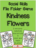 Freebie: Social Skills File Folder Game Kindness Flower