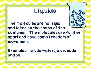 Freebie Solids, liquids and gases posters physical science