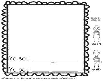 Freebie Spanish Daily Writing