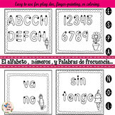 Freebie Spanish Fine Motor Worksheets for Activity Centers & More!