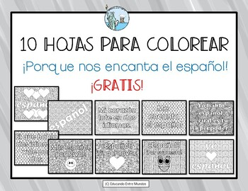 Spanish coloring pages Freebie!