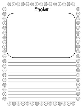 Freebie Spring & Easter Writing Paper and Coloring Page