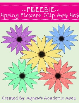 Freebie Spring Flower Clip Art Set: Commercial Use Allowed!