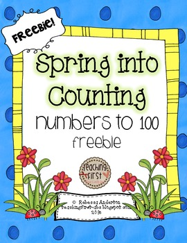 Spring Into Counting: 100's Charts Common Core Aligned
