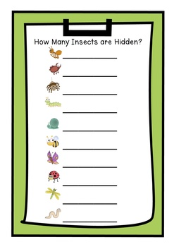 Freebie Spring Scoot Hidden Insects Maths Center