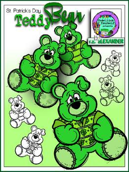 St. Patrick's Day Bear Clipart