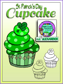 Freebie St. Patrick's Day Cupcake (Embellish Yourself Artworks)