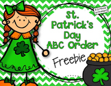 {Freebie} St. Patrick's Day ABC Order