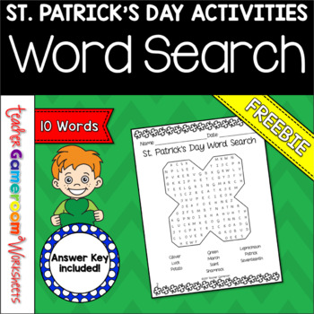 St. Patrick's Day Word Search Freebie