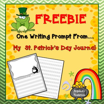 FREEBIE:  St. Patrick's Day Writing Prompt