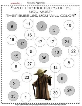 Freebie Star Wars 3rd Grade Math Activities
