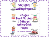 Stick Kids Creative Writing Paper 3 Different Grids