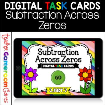 Subtraction Across Zeros Digital Task Cards - 2.NBT.7