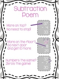 Freebie! Subtraction Poem Anchor Chart