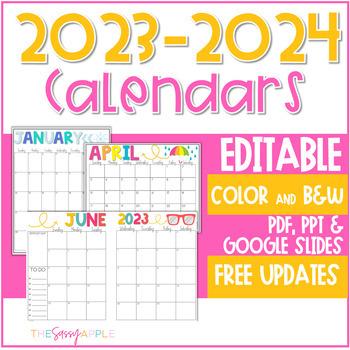 *Freebie* Summer Calendars