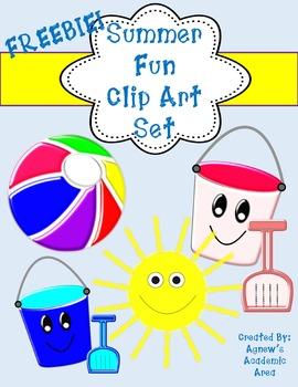 Freebie Summer Fun Clip Art Set: Commercial Use Allowed!