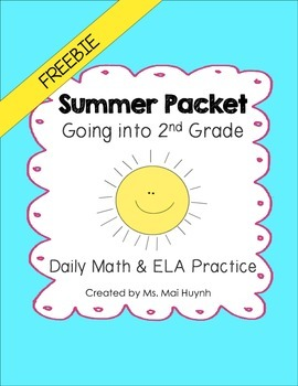 Freebie: Summer Packet - Going into 2nd Grade