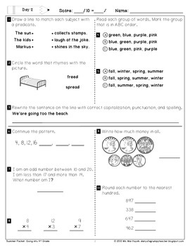 Freebie: Summer Packet - Going into 4th Grade by Mai Huynh | TpT