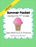 Freebie: Summer Packet - Going into 4th Grade