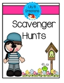 Freebie - Scavenger Hunts For Inside Or Outside