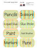 Freebie: Summer Time Themed Classroom Labels