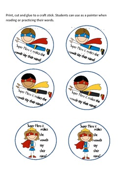 Freebie-Super Hero 'e'