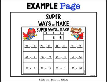 Superhero Math Wall Activities