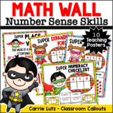 Superhero Math Wall Activities