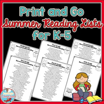This post includes this Summer Reading Lists freebie as well as many other summer reading ideas