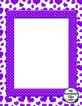 Freebie! Sweet Heart Papers with Frames - Valentine's Day Resource