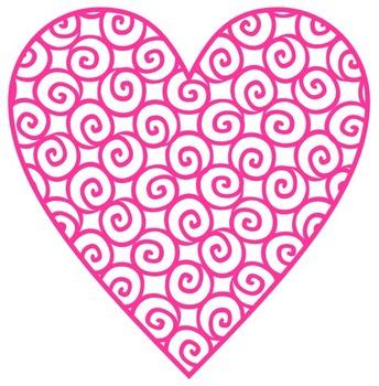 [Freebie] Swirly Hearts Clip Art