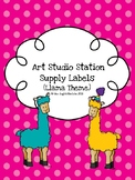 Art Studio Station Supply Labels