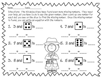 Freebie!!! THE CASE OF THE MISSING NUMBERS COUNTING AND SKIP COUNTING PACK