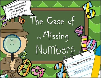 Freebie!!! THE CASE OF THE MISSING NUMBERS COUNTING AND SK