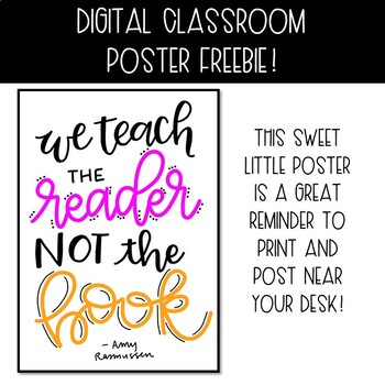 Freebie! Teach the Reader Poster
