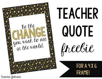 Freebie Teacher Quotes