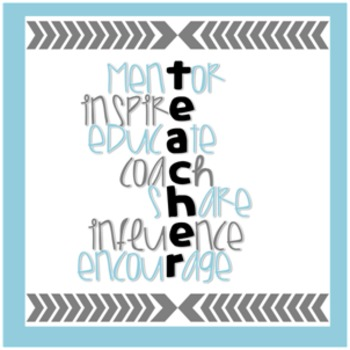 Freebie! Teachers, you rock! Free quote for your desk/office