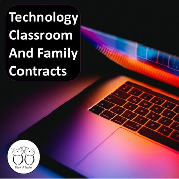 Technology School and Family Contracts Freebie
