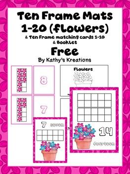 Freebie Ten Frame Mats 1-20 & Matching Cards 1-10 & Booklet