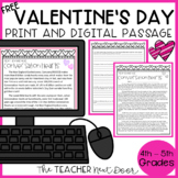 FREE Valentine's Day Passage Text Evidence Print and Digit