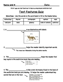 {Freebie!} Text Features Quiz