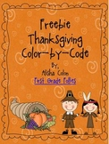 Freebie Thanksgiving Color by Code