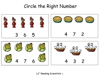 Thanksgiving Math and Literacy for Pre-K and Kindergartners!