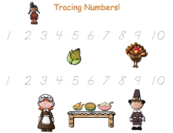 Holiday - Thanksgiving Math and Literacy for Pre-K and Kindergartners!