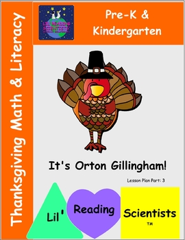 Thanksgiving Literacy and Math Fun for Pre-K and Kindergartners!