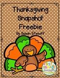 Freebie - Thanksgiving Vacation Snapshot