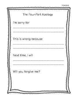 Freebie- The 4 Part Apology
