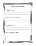 Freebie- The 4 Part Apology